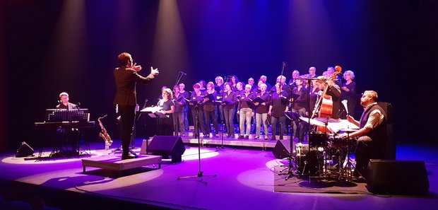 """Give peace a chance""-Konzert von JUST4YOU in LFB (Foto: Keßler, 10.11.2018)"