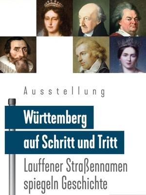 """Flyer Ausstellung """"Lauffener Straßennamen spiegeln Geschichte"""" (Grafik: Götz Scharzkopf)"""