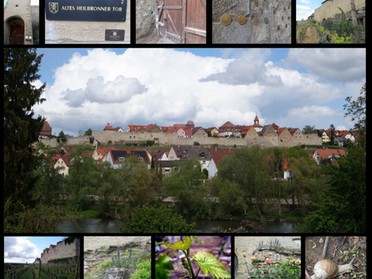 April - Birgit Nollenberger - Collage Stadtmauer und Altes Heilbronner Tor